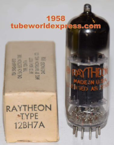 (!!) (Recommended Single) 12BH7A Raytheon Black Plates