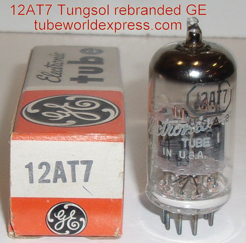 (!) (#1 12AT7 Tungsol) 12AT7 Tungsol rebranded GE NOS 1960's (9.2/9.8ma)