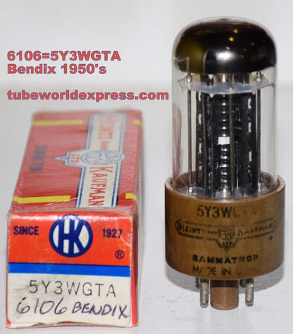 (!) (Recommended Single) 6106 Bendix rebranded 5Y3WGTA Heintz & Kaufman NOS (66/40 and 69/40)