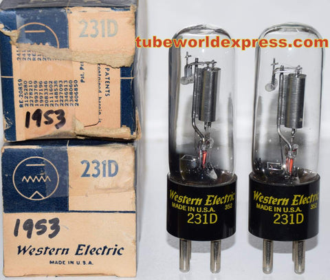 (!) (#2 231D Best Value Pair) 231D Western Electric NOS 1953 (1.7/1.7ma)