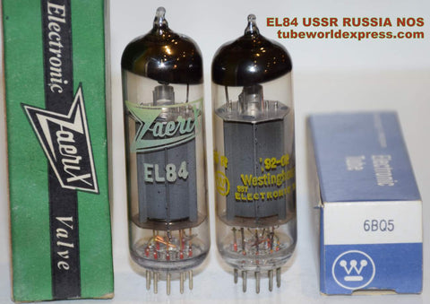 (!!) (Best Russian Pair) EL84 USSR Russia NOS 1990-1992 (40ma and 41ma)