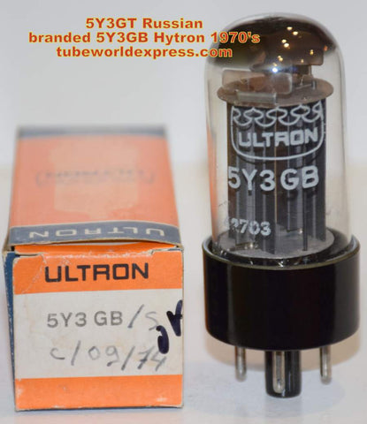 (!!) (Best Value) 5Y3GB=5Y3GT Russian made NOS branded ULTRON 1970's (2 in stock)