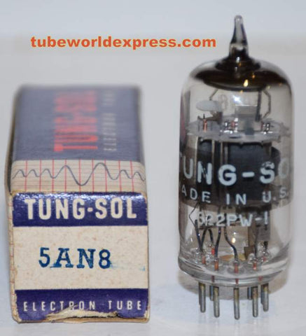 5AN8 Tungsol NOS sub for 6AN8 (1 in stock) best single