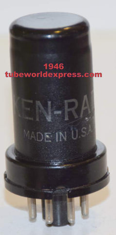 6SC7=VT-105 Ken Rad used/good 1946 (1.8/1.9ma)