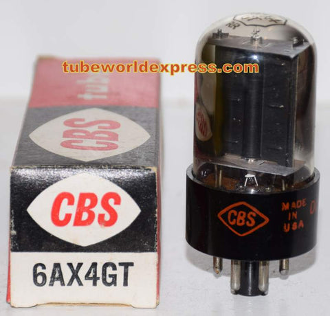 6AX4GT CBS short bottle NOS 1950's