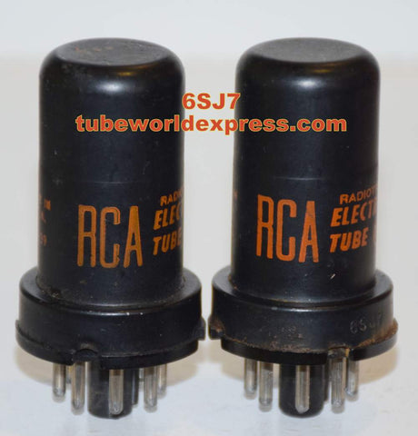 (!!!) (Recommended Pair) 6SJ7 RCA used/tests like new 1963-1964 (3.5/3.5ma)