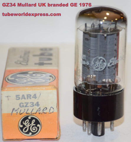(!!!!!) (Best Value Single) GZ34=5AR4 Mullard branded GE NOS 1976, 2 small nicks/scratches in base (60/40 and 62/40) (Cary, Latino,. Modwright, Marshall)
