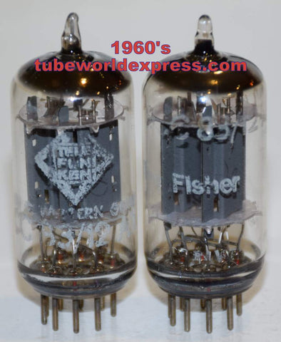 (!!!!!) (Best Pair) 12AX7 Telefunken Germany <> bottom smooth plates like new 1960's (1.1/1.3ma and 1.1/1.4ma)