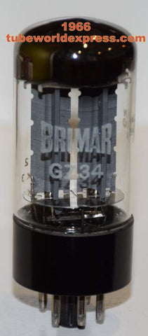 (!!) (#1 GZ34 Mullard Single 1966) GZ34 Mullard NOS rebranded Brimar NOS 1966 (58/40 and 58/40)