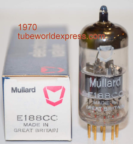 (!!!!) (Best Single) 7308=E188CC Mullard England NOS 1970 1% section balance (14/14ma)