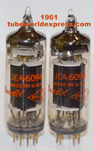 (!!!) (~ Recommended 1961 Pair ~) JEA-6094 Bendix NOS 1961 same date codes (57.5ma and 59.5ma)