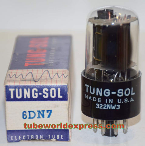 6DN7 GE branded Tungsol RCA NOS black plate/gray plate 1960 era (40ma and 8.5ma)