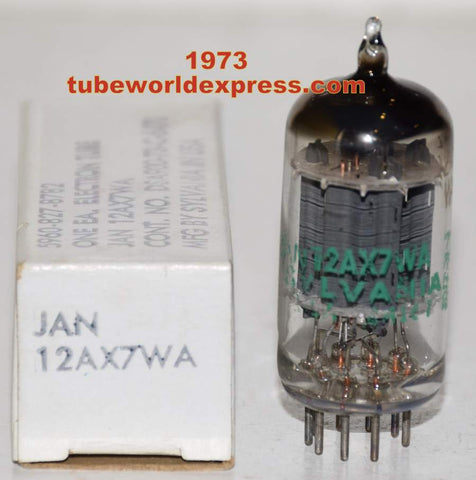 (!!!!) (Best Single) 12AX7WA Sylvania JAN NOS 1973 (Gm=2400/2400)