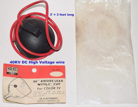 40KV DC (40,000) High Voltage Wire NOS (3 feet) (for 805 power tubes)
