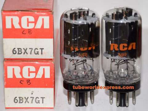 (!!!) (Recommended RCA Pair) 6BX7GT RCA coin-base NOS 1970's same date codes matched pair (39/52ma and 41/50ma)