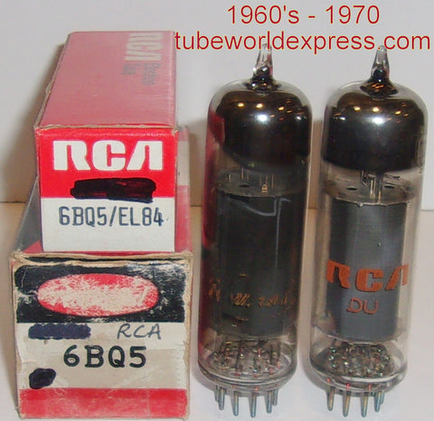 (!) (#2 6BQ5 RCA Pair) 6BQ5 RCA NOS 1960's - 1970 (55ma and 58.5ma) (matched on Amplitrex)