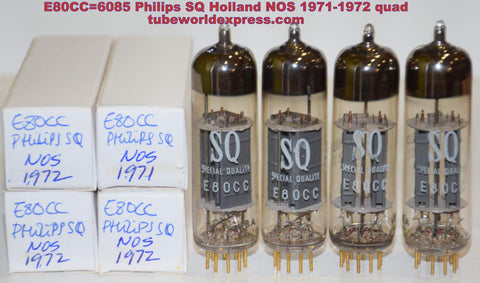 (!!!!) (Best Quad) E80CC=6085 Philips SQ Holland NOS 1971-1972 (5.8/6.2, 5.8/6.6, 5.5/6.4, 5.2/6.2ma)
