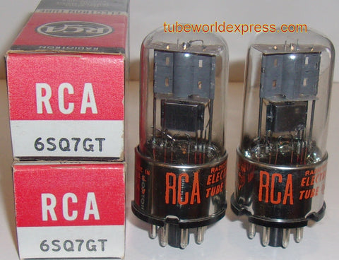 (!!) (#1 6SQ7GT PAIR) 6SQ7GT RCA NOS 1960's (matched on Amplitrex)