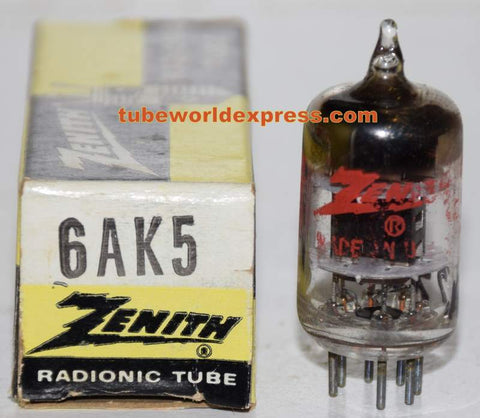 6AK5 Zenith GE NOS 1960's (10.3ma) (High Ma and Gm)