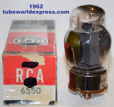 (!!!) (BEST VALUE) 6550 Tungsol USA NOS gray smooth plate rebranded RCA 1962 (123ma) (Recommended for Audio Research Ref power supply)