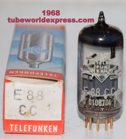 (!!!!!) (Good Value Single) E88CC=6922 Telefunken Germany <> bottom used/good 1968 very good condition (11.6/12.2ma)