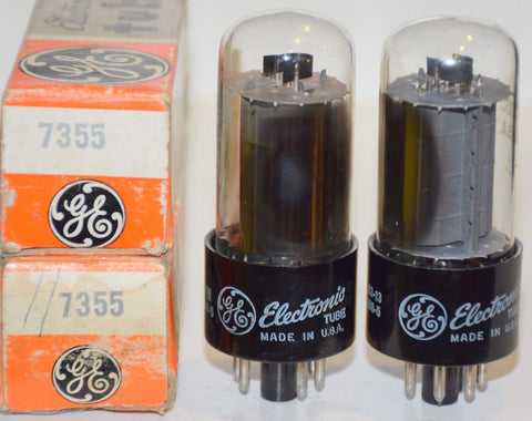 (!!!) (Recommended Pair) 7355 GE NOS 1960's (61.5ma and 67.5ma)