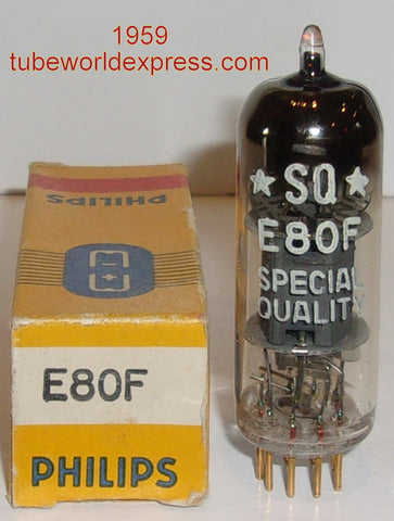 (!!) (#2 E80F Single) E80F=6084 Philips Miniwatt PQ NOS