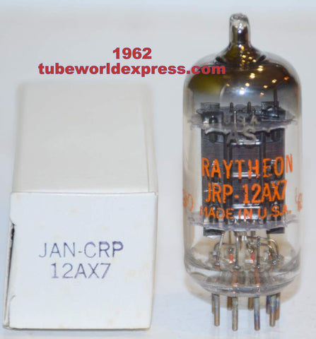 (!!!!!) (Best Overall Single) JRP-12AX7 Raytheon Black Plates NOS 1962 (Gm=1700/1700) (1.2/1.2ma) 1% section balance