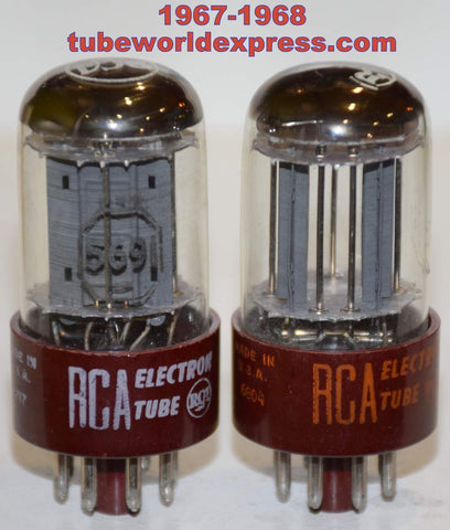 (!!!!!) (Best Overall Pair) 5691 RCA red base gray plates 1967-1968 (2.3/2.3ma and 2.2/2.5ma) 1-3% matched