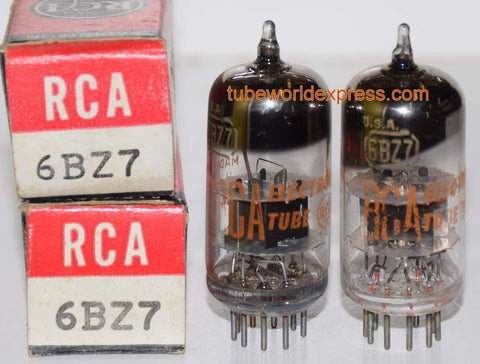 (!!!) (~ Best RCA Pair ~) 6BZ7 RCA black plates NOS