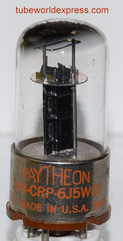 6J5WGT Raytheon black ribbed plate NOS 1959 (11.4ma)