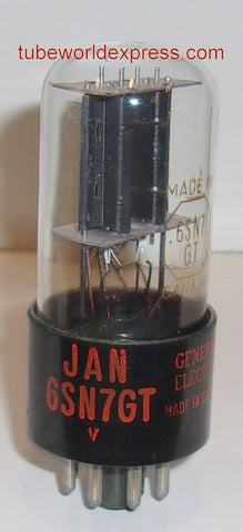 (!!) (Good Value) 6SN7GT GE JAN Canada NOS around 1950 (8/10.2ma)