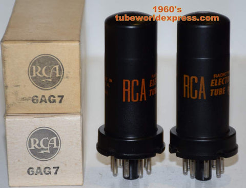 (!!) (Best Pair) 6AG7 RCA NOS 1960's (27ma and 27.5ma)