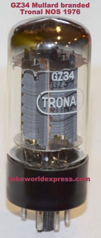 (!!!) (Best Value Single) GZ34 Mullard branded Tronal NOS 1976 in white box (58/40 and 58/40)