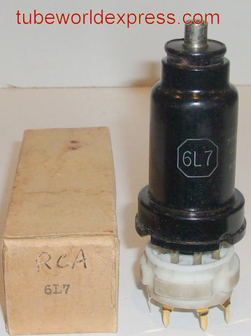 6L7 RCA metal can NOS small amount of rust on metal can
