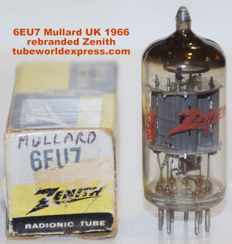(!!!) (Best Mullard Single) 6EU7 Mullard UK branded Zenith NOS 1966 (53/32 and 60/32)