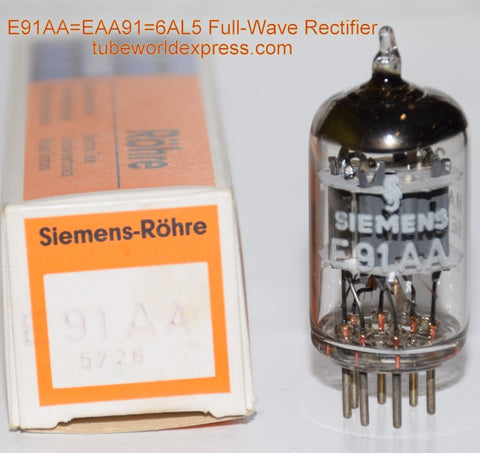 E91AA=EAA91=6AL5 Siemens Germany NOS (1 in stock)