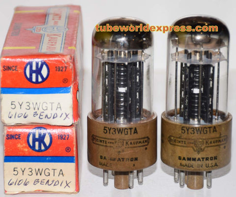 (!!!) (Recommended PAIR) 6106 Bendix 1950's rebranded 5Y3WGTA Heintz & Kaufman NOS (64-67/40 and 65-68/40)