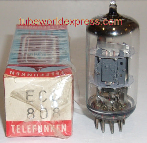 (Best Value) ECC808=6KX8 Telefunken Diamond Bottom NOS faded printing from rubbing inside box 1970
