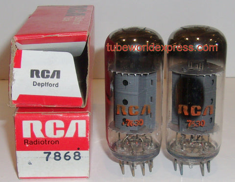 (!!) (#3 7868 RCA Pair 7868 RCA NOS 1976 (70ma and 76ma) (matched on Amplitrex)