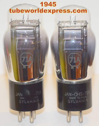 (!!!!) (Best Pair) JAN-CHS-71A Sylvania NOS 1945 in white boxes (22ma and 25.5ma)