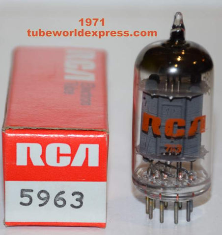 (!!) (#2 5963 RCA) 5963=12AU7 RCA NOS 1971 (11.2/14.4ma) (High Ma and Gm)