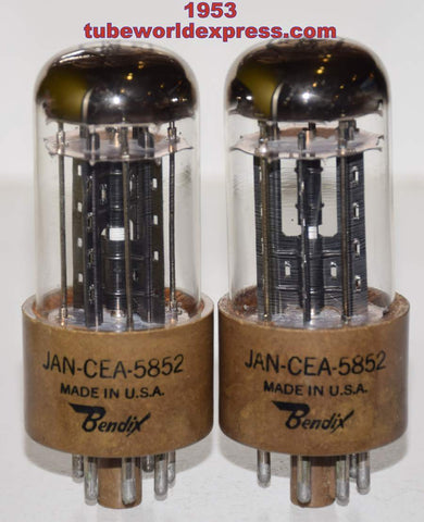 (!!!!) (BEST PAIR) JAN-CEA-5852=6X5GT Bendix NOS 1953 (the oldest and best version) (best 6X5GT sub) (53-56/40 and 52-56/40)
