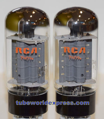 (!!!!) (Best Pair) 8417 Sylvania branded RCA NOS 1974 (82ma and 85ma)