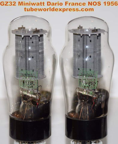 (!!!!) (Recommended Pair) GZ32 Miniwatt Dario France NOS 1956 (61-62/40 and 62-62/40 x 2 tubes)