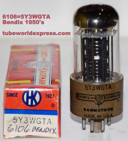 (!) (Recommended Single) 6106 Bendix rebranded 5Y3WGTA Heintz & Kaufman NOS (66/40 and 70/40)