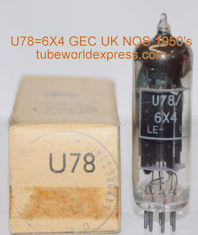 (!!!!) (Recommended Single) U78=6X4 GEC black plates branded MWT (Marconi Wireless Telegraph) UK NOS