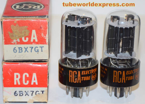 (!!!!) (Recommended Pair) 6BX7GT RCA NOS 1960's (40/50ma and 45/55ma)