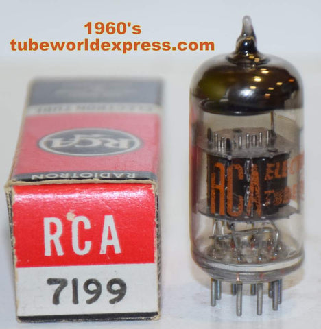 (!!!!!) (Best Overall Single) 7199 RCA black plates NOS 1960's (14.2ma pentode / 9.6ma triode) (Highest Gm)