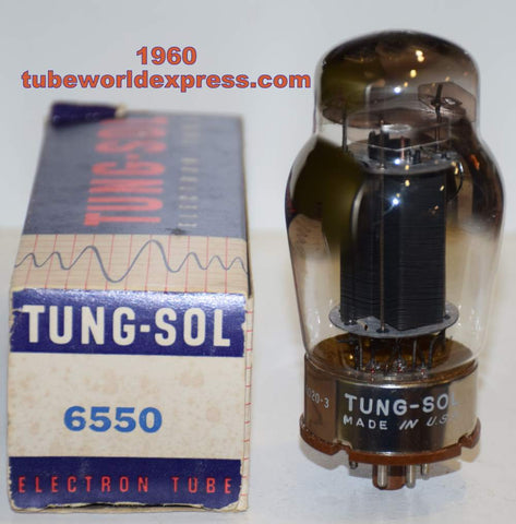 (!!!!!) (Recommended Single) 6550 Tungsol black plate NOS 1960 (136ma) (Recommended for Audio Research and Tavish power supply)